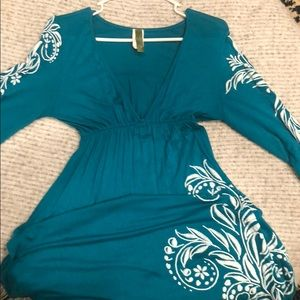Teal cotton coverup